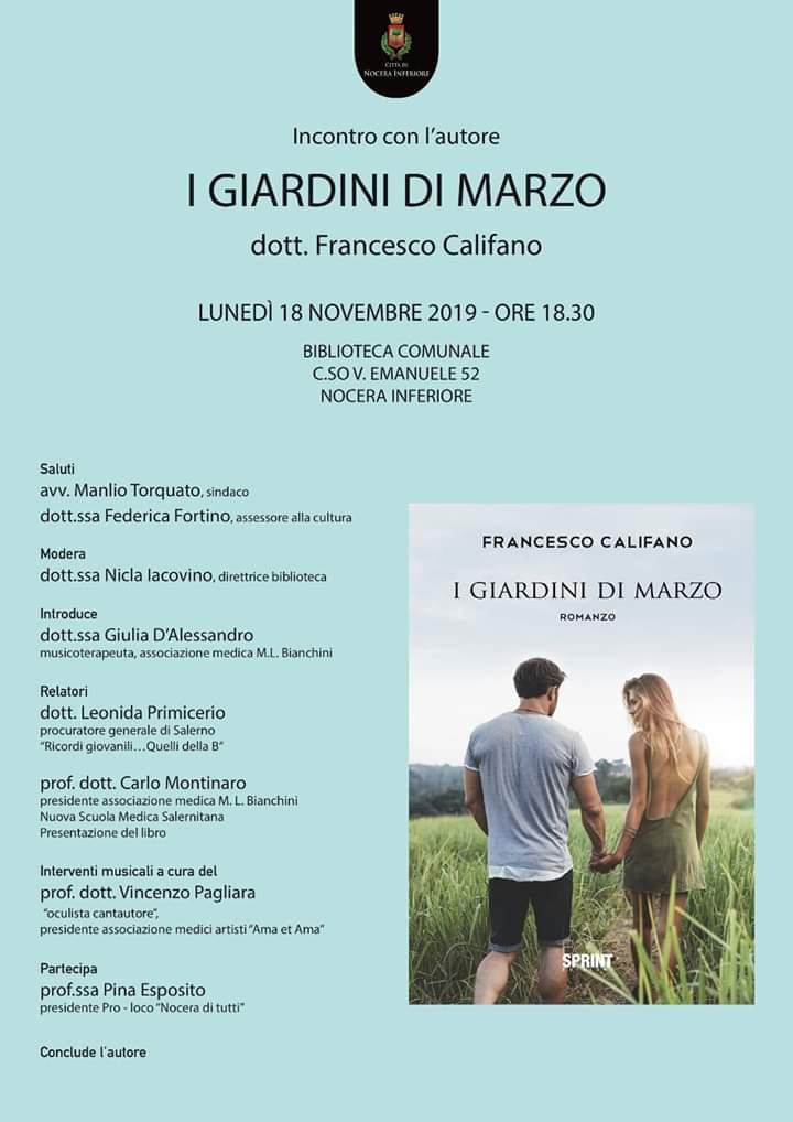 Incontro con l'autore: Dott. Francesco Califano