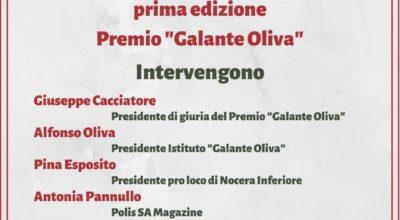 """Cerimonia di Premiazione della 1° Edizione del Premio """"Galante Oliva"""""""